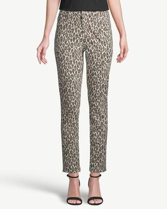 So Slimming Animal-Print Girlfriend Ankle Jeans