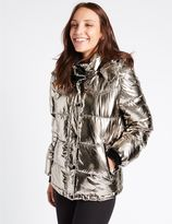 Marks and Spencer Metallic Padded Jacket with StormwearTM