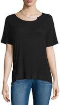 IRO Rikke Short-Sleeve Jersey Top w/ Chain