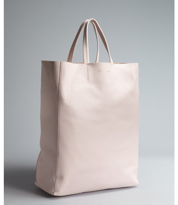 Celine pale pink dual handle leather shopping tote