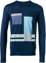 Pal Zileri geometric pattern sweater - men - Silk/Cotton - 48