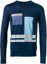 Pal Zileri geometric pattern sweater - men - Silk/Cotton - 50