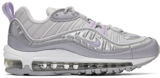 Nike Grey and Purple Air Max 98 Sneakers