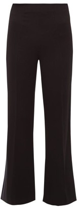 Roland Mouret Madison Stretch-crepe Trousers - Navy Multi