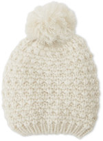Cejon Ivory Knit Beanie With Pom Pom