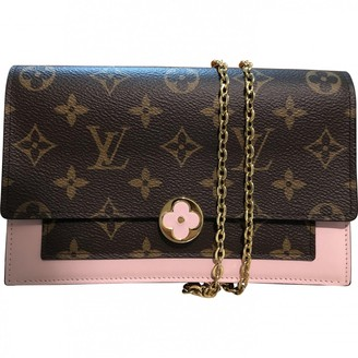 Louis Vuitton Chain bag Brown Cloth Handbags