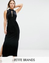 Vero Moda Petite Velvet Lace Back Maxi Dress