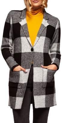 Dex Check Button-Front Cardigan