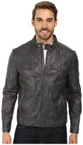 Kenneth Cole Reaction PU Zip Front Jacket