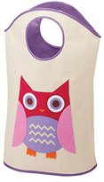 Whitmor Laundry Hamper Storage Tote, Pink Owl