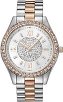 JBW Mondrian Womens Diamond- and Crystal-Accent Two-Tone Stainless Steel Bracelet Watch J6303D