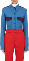 Calvin Klein Women's Colorblocked Wool Twill Shirt