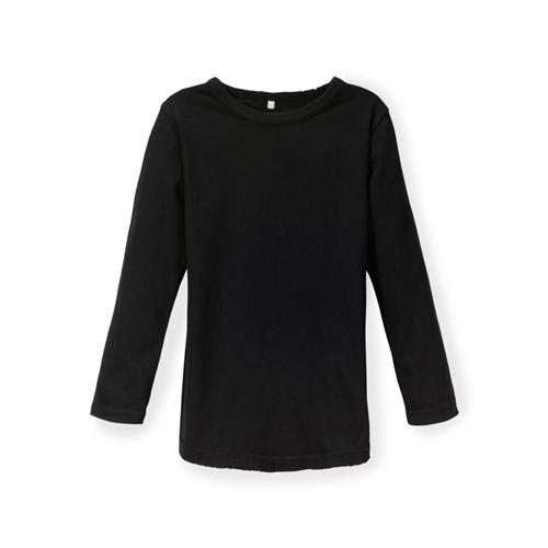 NUNUNU - Kid's Deconstructed Long Shirt - Black