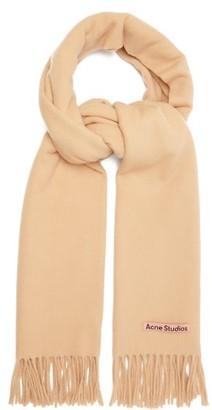 Acne Studios Canada New Fringed Wool Scarf - Beige