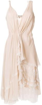 Ermanno Scervino Ruffled Asymmetric Dress