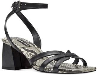 Nine West Galea Women's Leather Block Heel Sandals