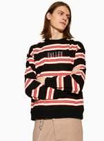 Topman Black and Ecru Stripe 'Valley' Sweatshirt