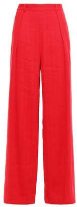 Masscob Pleated Linen-blend Wide-leg Pants
