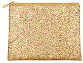 Superdrug Glitter Flat Pouch Multi Gold