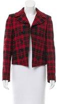 Saint Laurent Wool Plaid Blazer