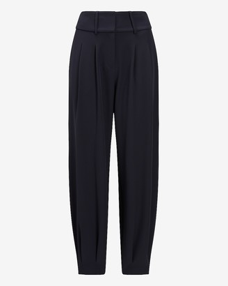 Express High Waisted Pleated Ankle Pant