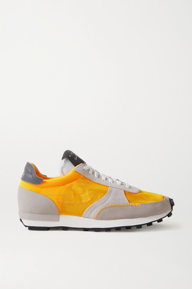 Nike Daybreak Leather-trimmed Mesh And Suede Sneakers - Orange