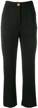 Balmain High-Waisted Straight-Leg Trousers