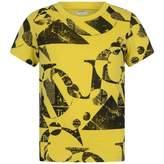 John Galliano John GallianoBoys Yellow Gazette Print Top