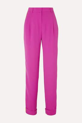Esteban Cortazar Striped Crepe Straight-leg Pants - Pink