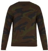Valentino Camouflage-print Wool-knit Sweater