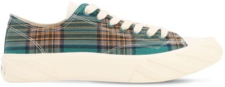 Age   Across To Genuine Era Age Cut Checked Cotton Sneakers