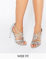 Asos HOME AND AWAY Wide Fit Caged Heeled Sandals