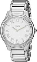 Fendi Men's F251014000 Classico Analog Display Quartz Silver Watch