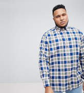 Tommy Hilfiger Plus Zac Large Check Regular Fit Shirt In Blue