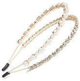 Cara Double Band Crystal Headband