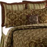Bed Bath & Beyond Windsor Chocolate/Green European Sham