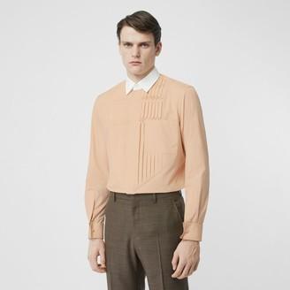 Burberry Classic Fit Pleated Bib Cotton Poplin Dress Shirt