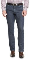 Brioni Dark-Wash Straight-Leg Denim Jeans, Blue