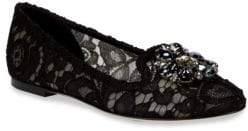 Dolce & Gabbana Crystal-Embellished Flats