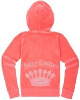 Juicy Couture Girls Logo Velour Filagree Crown Original Jacket
