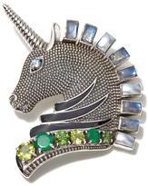 "Nicky Butler Moonstone and Multigemstone Sterling Silver ""Unicorn"" Pin/Pendant"