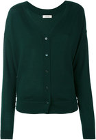 Dorothee Schumacher - embellished side V-neck cardigan - women - Polypropylene/Virgin Wool - 1