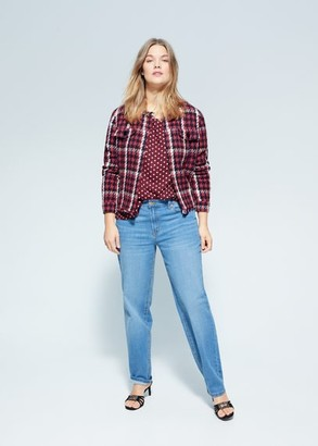 MANGO Polka-dot blouse