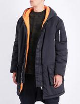 Unravel Hooded shell parka coat