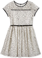 Sequin Hearts Lace Party Dress, Big Girls (7-16)