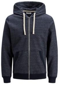 Jack and Jones Men's Melange Zip Hoodie Long Sleeve Sweatshirt
