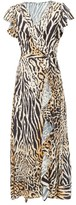Melissa Odabash Brianna Animal-print Wrap Poplin Dress - Womens - Animal