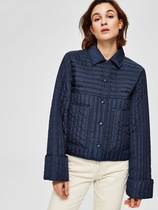 Selected Renea Quilted Jacket In Night Sky - 34