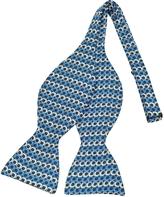 Forzieri Optical Print Silk Self-tie Bow Tie