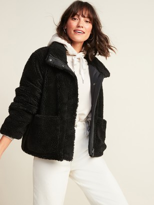 Old Navy Relaxed Cozy Sherpa Faux-Fur Jacket for Women